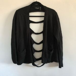 BLack cut out sweater